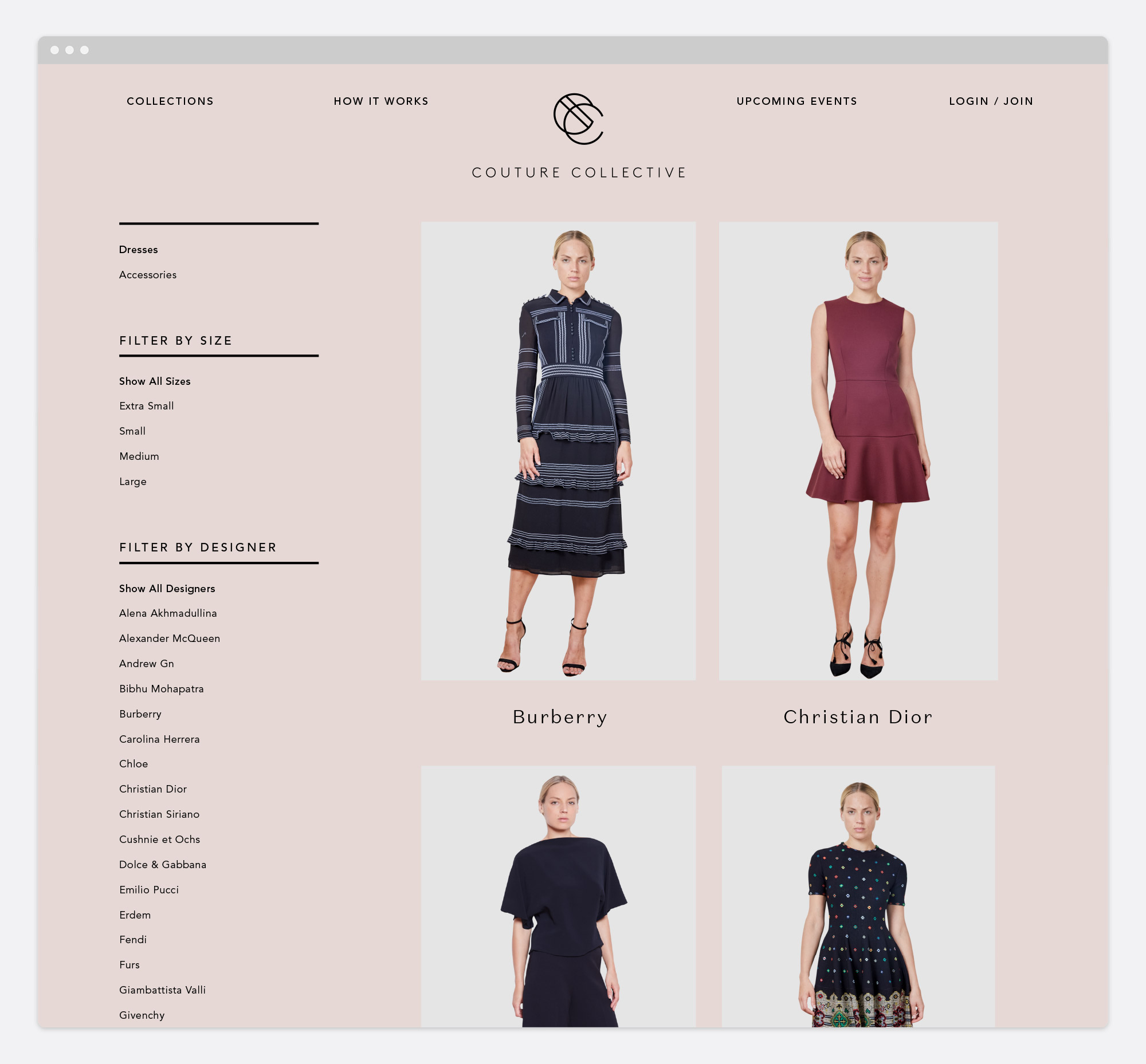 Couture Collective Website Design