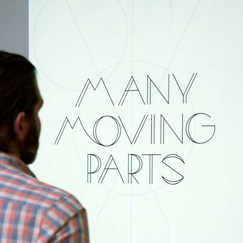 Many Moving Parts Typography