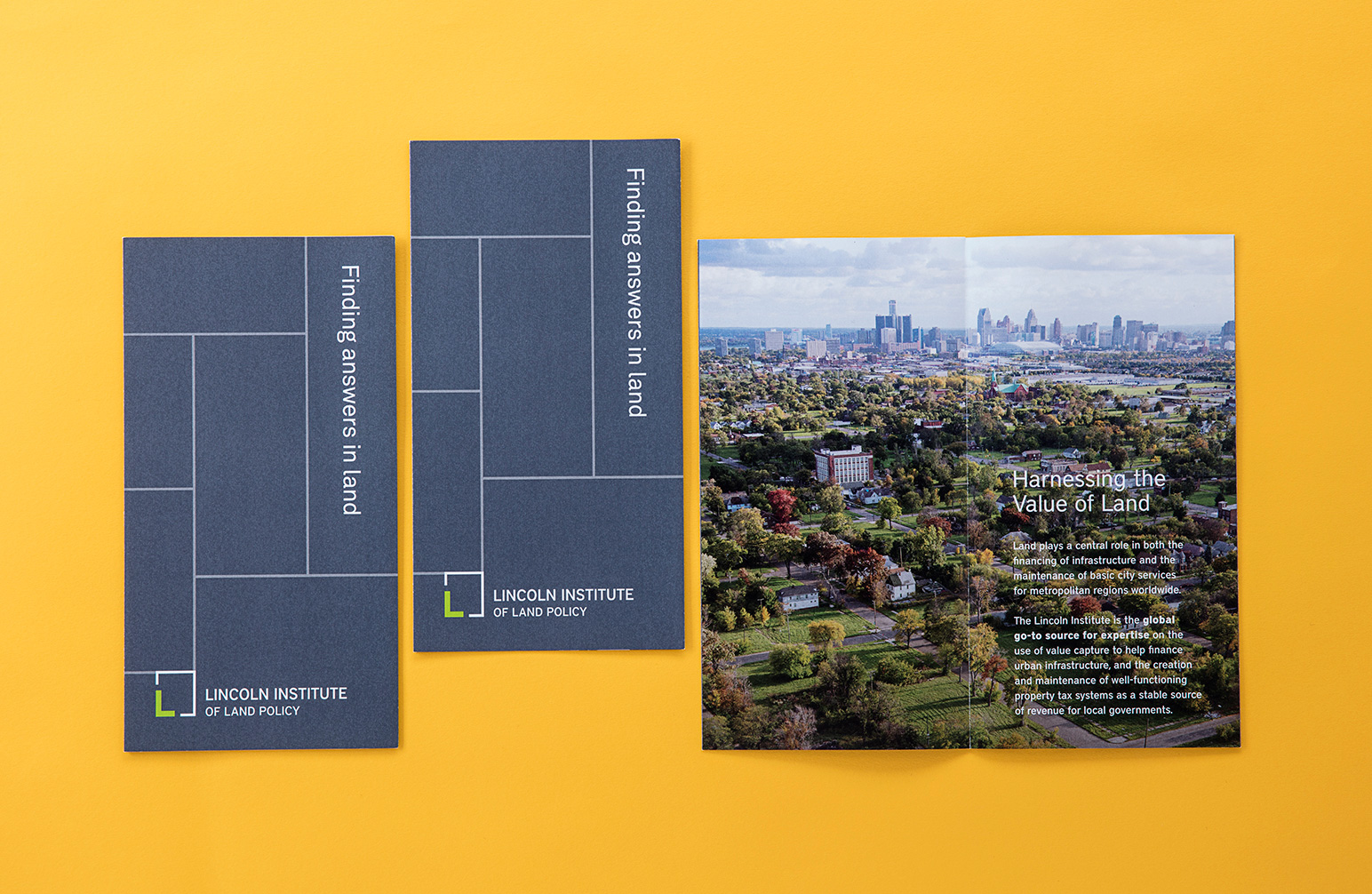 Lincoln Institute of Land Policy Brand and Publication Design